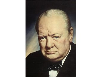 Portrait of Winston Churchill, the first British minister