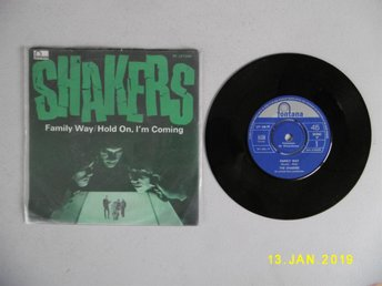 "Vinyl 7"". SHAKERS. Family Way/Hold on, I´m coming. Fontana - Mono."