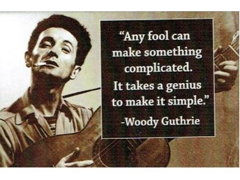 "Magnet Woody Guthrie citat ""Any fool...."""