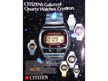 CITIZEN QUARTZ WATCHES TIDNINGSANNONS Retro 1976
