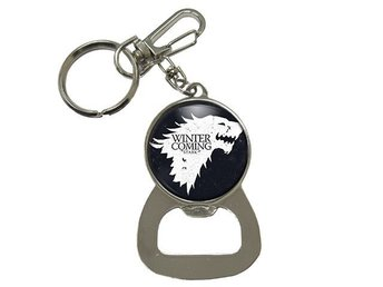 Game Of Thrones Direwolf House Stark Wolves Nyckelring Med Kapsylöppnare Flask