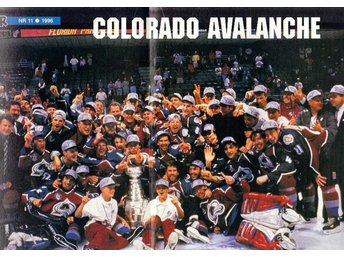 Colorado Avalanche m Peter Forsberg, lagbild fr Buster 1996