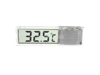 Mini Transparent Termometer Digital LCD Fish Tank Aquarium Icke vattentät Silver