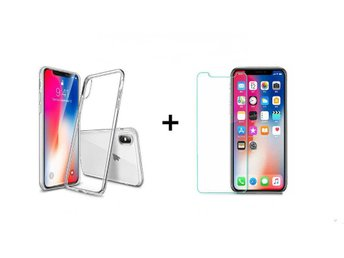 Skal iPhone Xr transparent +Härdat glas