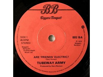 "Tubeway Army ""Are Friends Electric?"" 1978 Gary Numan Missprint"