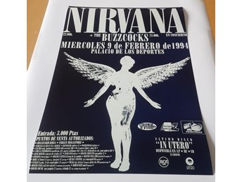 NIRVANA PALICIO DE LOS DEPORTES SPAIN 1994 PHOTO POSTER