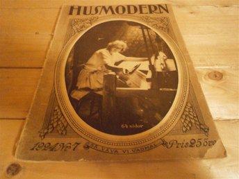 Husmodern 1924 # 7 Glas fr Kosta, Kungligt, Sömnad, Recept mm - Göteborg - Husmodern 1924 # 7 Glas fr Kosta, Kungligt, Sömnad, Recept mm - Göteborg