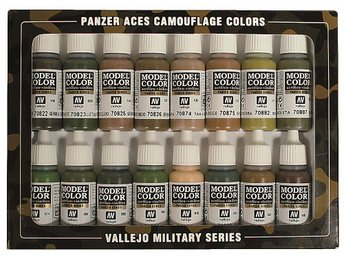 Vallejo Model Color Pansar Äss Kammo Colors (16 x 17ml) - Skoghall - Vallejo Model Color Pansar Äss Kammo Colors (16 x 17ml) - Skoghall