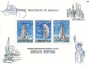 Monaco 1985. Mnr: Block nr 30 ** Segling - Njurunda - Monaco 1985. Mnr: Block nr 30 ** Segling - Njurunda