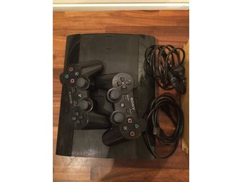 Playstation 3 Slim + 15 spel & 2 handkontroller