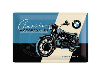 "Vintage tavla i metall med 3D relief, 20x30 cm, BMW-""Classic MOTORCYCLES"""