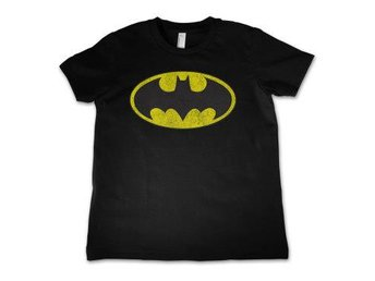Batman T-shirt Distressed Logo Barn 8 år