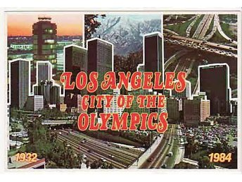 Los Angeles city of the Olympics.