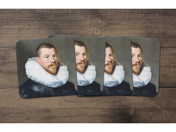 Paulus Moreelse 1630 Portrait Of A Middle Aged Man Coasters 4 Pack Underlägg