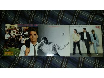 HUEY LEWIS AND THE NEWS - 3 LP - SPORTS, FORE!, SMALL WORLD