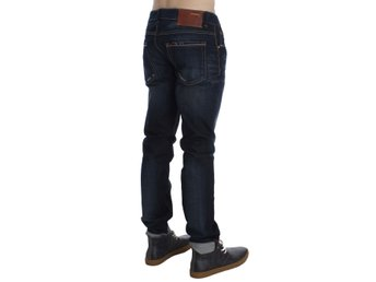 ACHT - Blue Wash Cotton Slim Skinny Fit Jeans