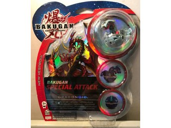 Bakugan TRAP Battle Brawlers - Special Attack Dragonoid Grå + 2 Kort