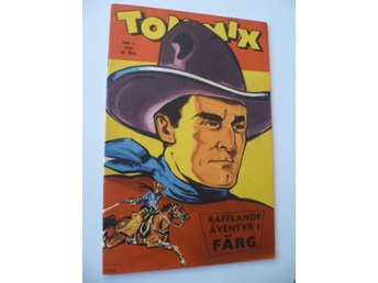 * Tom Mix nr 1, 1953, första nr/1:a nummer, TOPPSKICK! VF+/NM *