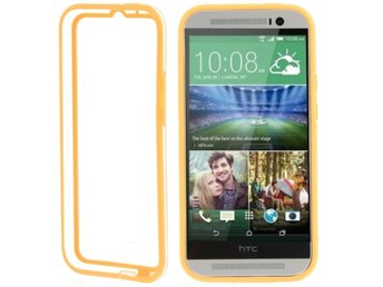HTC One M8 TPU Bumper Orange