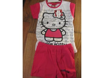 T-Shirt Tröja Barn Hello Kitty Pyjamas T-shirt + Shorts Rosa vit 11-12 år THN