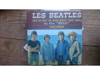BEATLES PLÅTSKYLT Tin sign  pop England rock klassiker