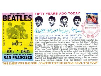 50th Anniversary Beatles at Candlestick Park Event Cover