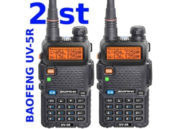 2 st Baofeng UV-5R Jaktradio Komradio Amatörradio Walkie-Talkie - lev. inrikes!