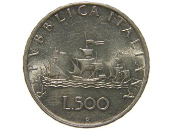 Italy 500 lire 1959 - Nynäshamn - Italy 500 lire 1959 - Nynäshamn