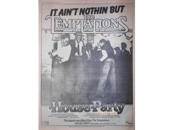 THE TEMPTATIONS (MOTOWN) - HOUSE PARTY, STOR TIDNINGSANNONS 1975