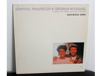 "Aretha Franklin & George Michael, I Knew You Were Waiting (For Me), 12"" MAXI"