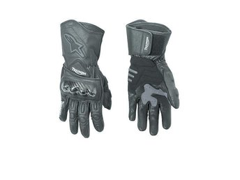 Triumph/Alpinestars AS 4 sporthandskar läder/carbon Damstorlek Medium