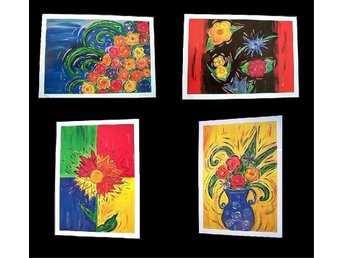Konstmappen Flower Collection - 4 st handsignerad mapp, 2001