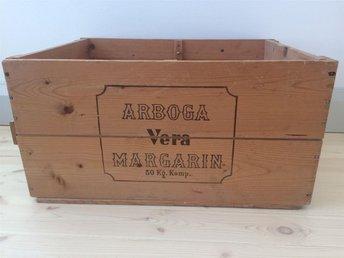 Arboga Vera Margarin trälåda - Stocksund - Arboga Vera Margarin trälåda - Stocksund