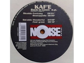 "Kaf'e title* Back In Town EP* House 12"" Belgium"
