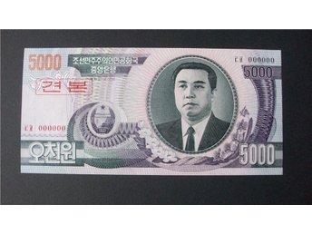 Javascript är inaktiverat. - Luleå - 5000 Won 2002 - Kim Il Sung; Kim Il Sung's birth place - SPECIMEN UNC Samfrakt ett porto och alla sedlar i samma brev. OBS! I det vinnarmail du får från Tradera där står alla uppgifter om hur du skall betala. - Luleå