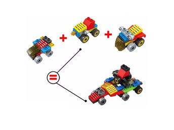 3 i 1  3D City Smart Bilar Brain Toys Vehicles likt LEGO Leksaker - YY0883
