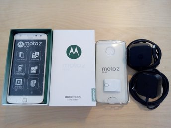 Motorola Moto Z Play 5.5 White/Gold, 2 Original Chargers,Back Cover, Hardly Used