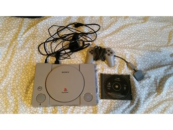 Playstation 1 + handkontroll & demo one