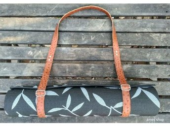 Handmade Leather Strap, Yoga and Pilates Mat Carrier Sling.