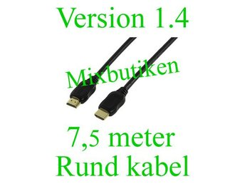 7,5 meter version 1.4 /1080p HDMI-kabel. Guldpläterad, High Speed m. Ethernet
