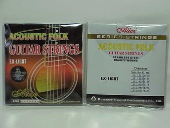 OUTLET -   Alice strings A207 till Western, Acoustic gitarr