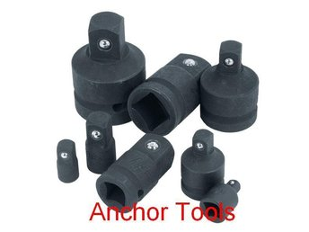"8pc Impact Socket Adaptor Set - Imperial Socket Size Converter 1"" to 1/4"""