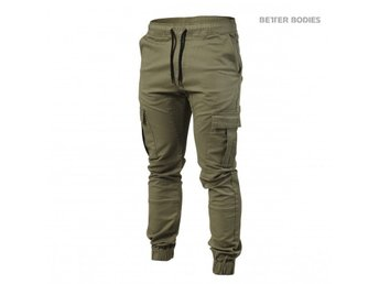 BETTER BODIES MENS BB ALPHA STREET PANTS WASHED GREEN STL M - NYA!