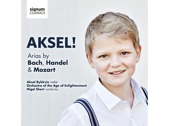 Javascript är inaktiverat. - Nossebro - Norwegian boy-soprano Aksel Rykkvin has quickly built a reputation as a rare talent, combining an intelligent musicality with a beautifully resonant treble voice. On his debut recording he is accompanied by The Orchestra of the Age on Enlighten - Nossebro