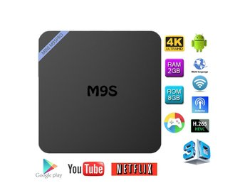 MINI M9S Pro Android 6.0 Amlogic S905X Bluetooth TV Box Helt Ny