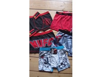 5 par boxershorts! Spiderman,Manchester United,Liverpool, Star wars .9-10 år