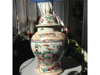 Kinesisk urna, handmålad - Vällingby - Kinesisk urna, handmålad - Vällingby