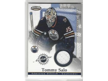 120. 2002-03 Pacific Exclusive Jerseys #9 Tommy Salo - Sandared - 120. 2002-03 Pacific Exclusive Jerseys #9 Tommy Salo - Sandared