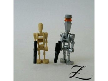 LEGO - Star Wars - Assasin Droid (Silver ) + Battle Droid - Legogubbe - Z1463