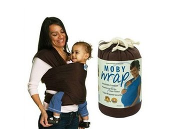 Brun Bärsjal Mothers' Gift Moby Wrap Sling Infant Cotton Newborn Baby Carrier